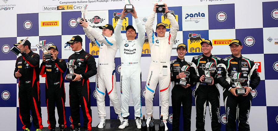 Il podio assoluto del GT Endurance a Monza