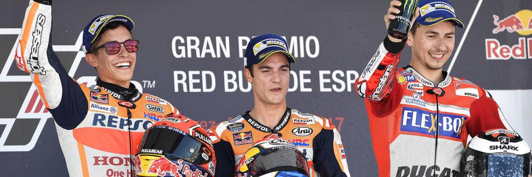 Il podio tutto spagnolo della MotoGP di Jerez de la Frontera segna il ritorno di Dani Pedrosa