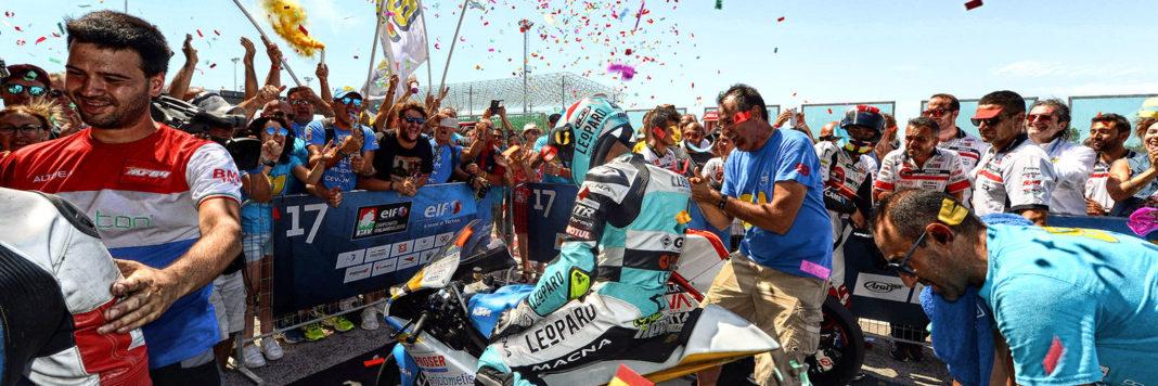 Ecco l'arrivo vittorioso di Stefano Nepa che dominato la Moto3