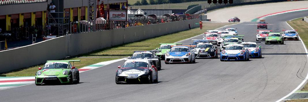 Lo start di gara 2 della Porsche Carrera Cup Italia al Mugello