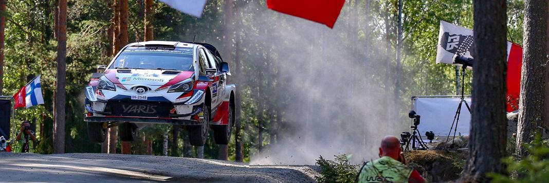 Ott Tanak e Martin Jarveoja con al Toyota Yaris Wrc si aggiudicano il Neste Rally Finland