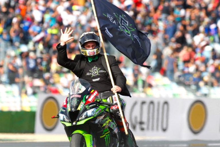 A Magny Cours Jonathan Rea con la Kawasaki ZX-10 RR si aggiudica il quinto alloro consecutivo nella WSBK