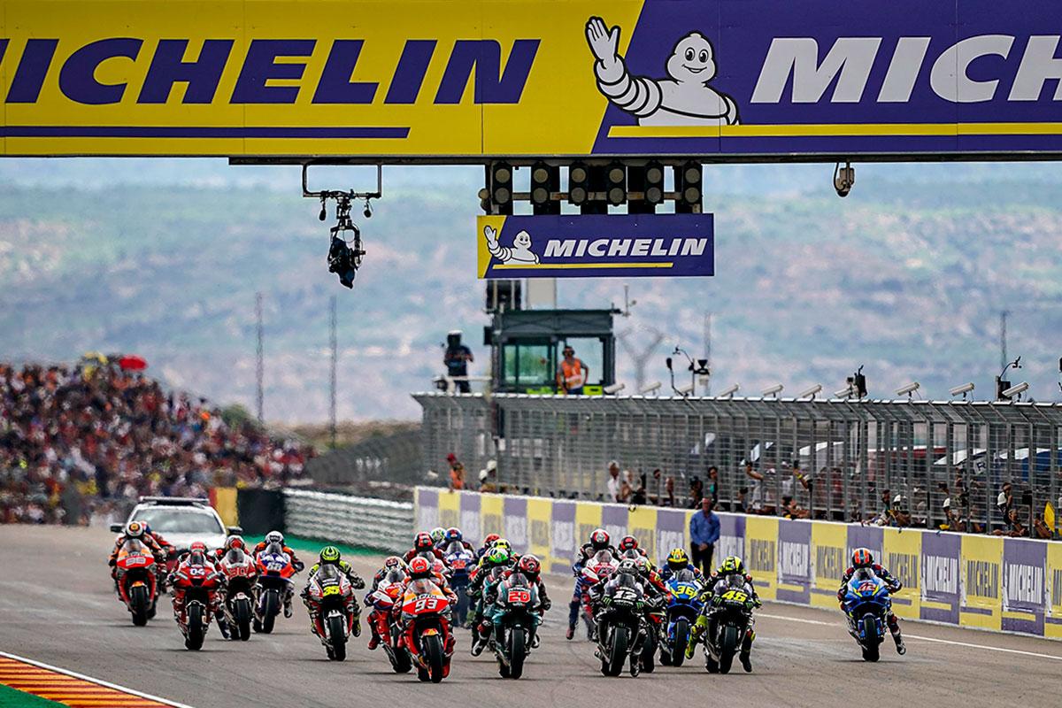 La partenza della MotoGP ad Alcaniz