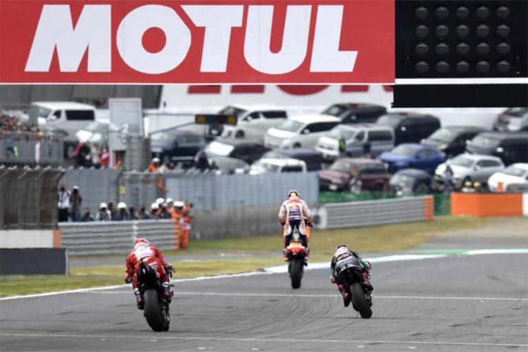 Con lo scudetto di Campione del Mondo già cucito sulla casacca, Marc Marquez non perde la concentrazione e si aggiudica anche la tappa giapponese di MotoGP a Motegi