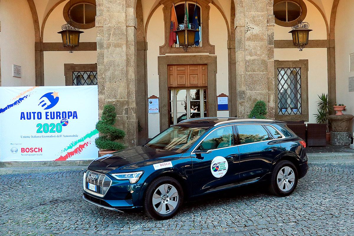 Il premio Green Gold Award va all'Audi e-Tron, la vettura frutto del maggiore impegno nell'innovazione a vantaggio dell'ambiente
