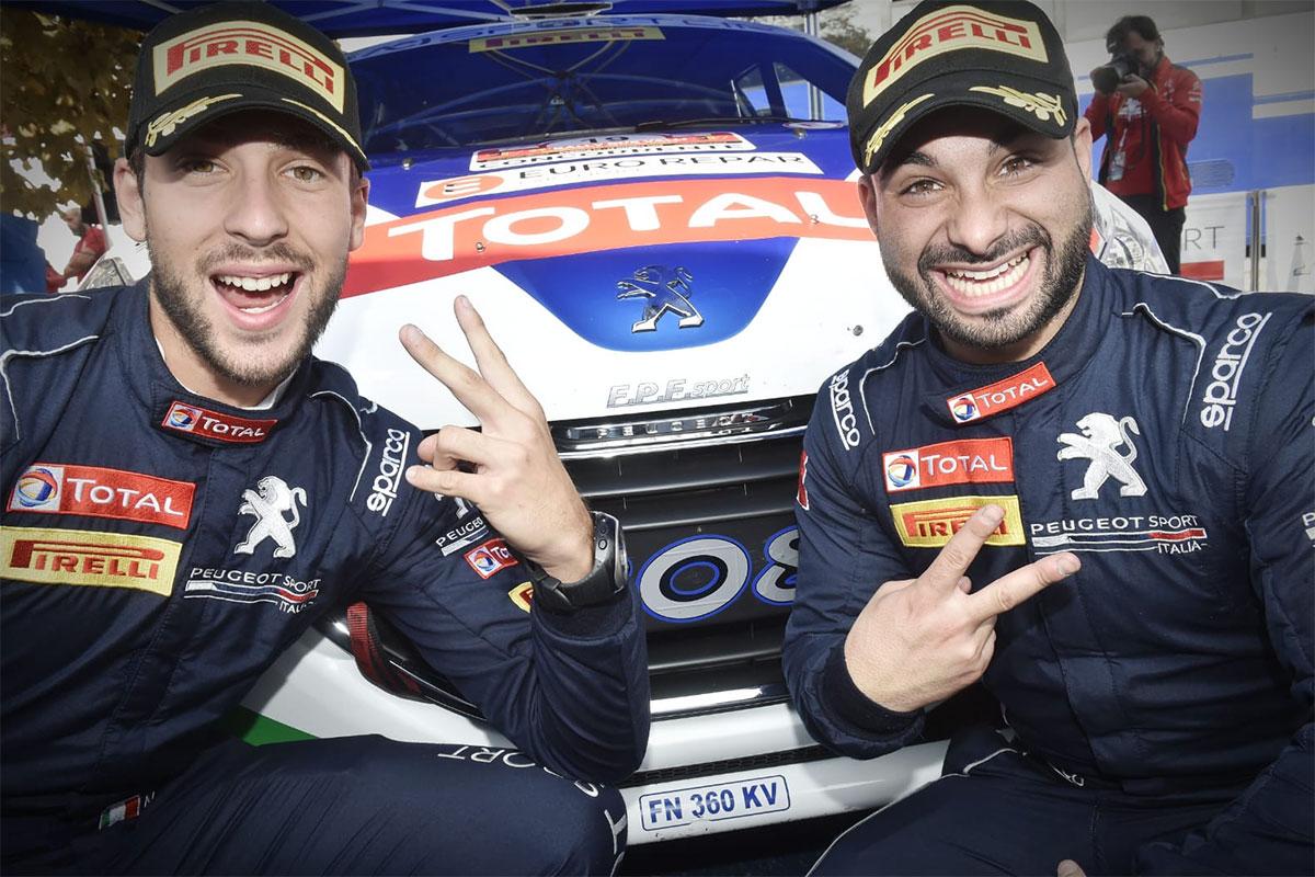 Tommaso Ciuffi con la Peugeot 208 R2B si aggiudica il titolo 2 Ruote Motrici (Foto Marco Passaniti)
