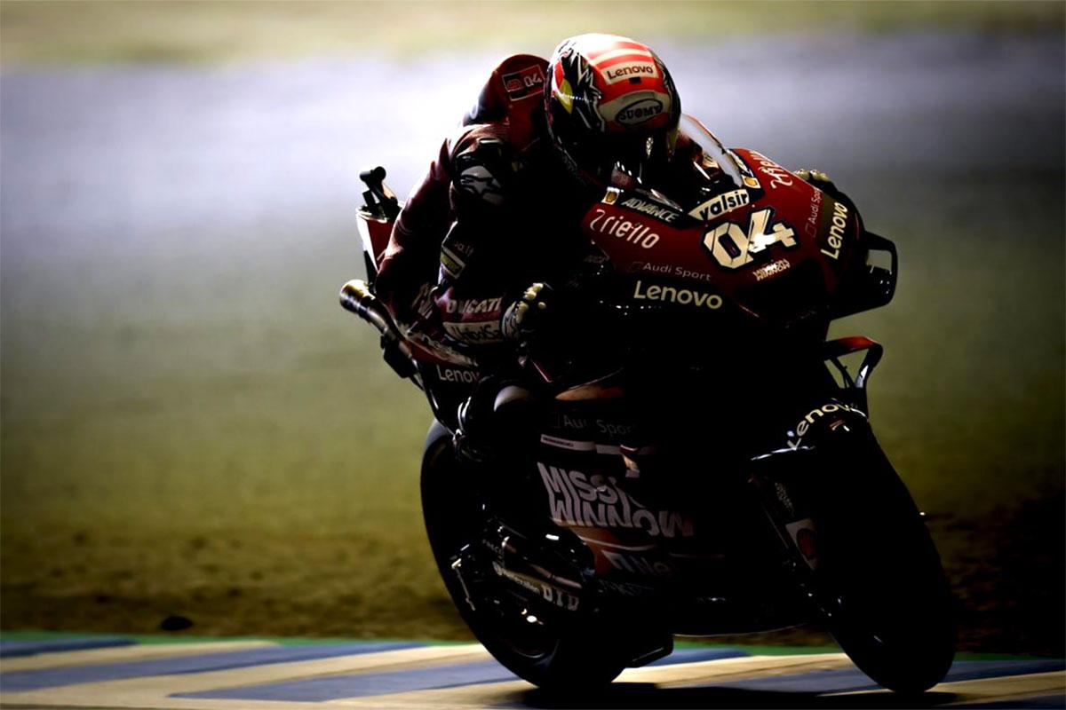 Andrea Dovizioso con la Ducati non può far altro che accontentarsi del terzo gradino del podio