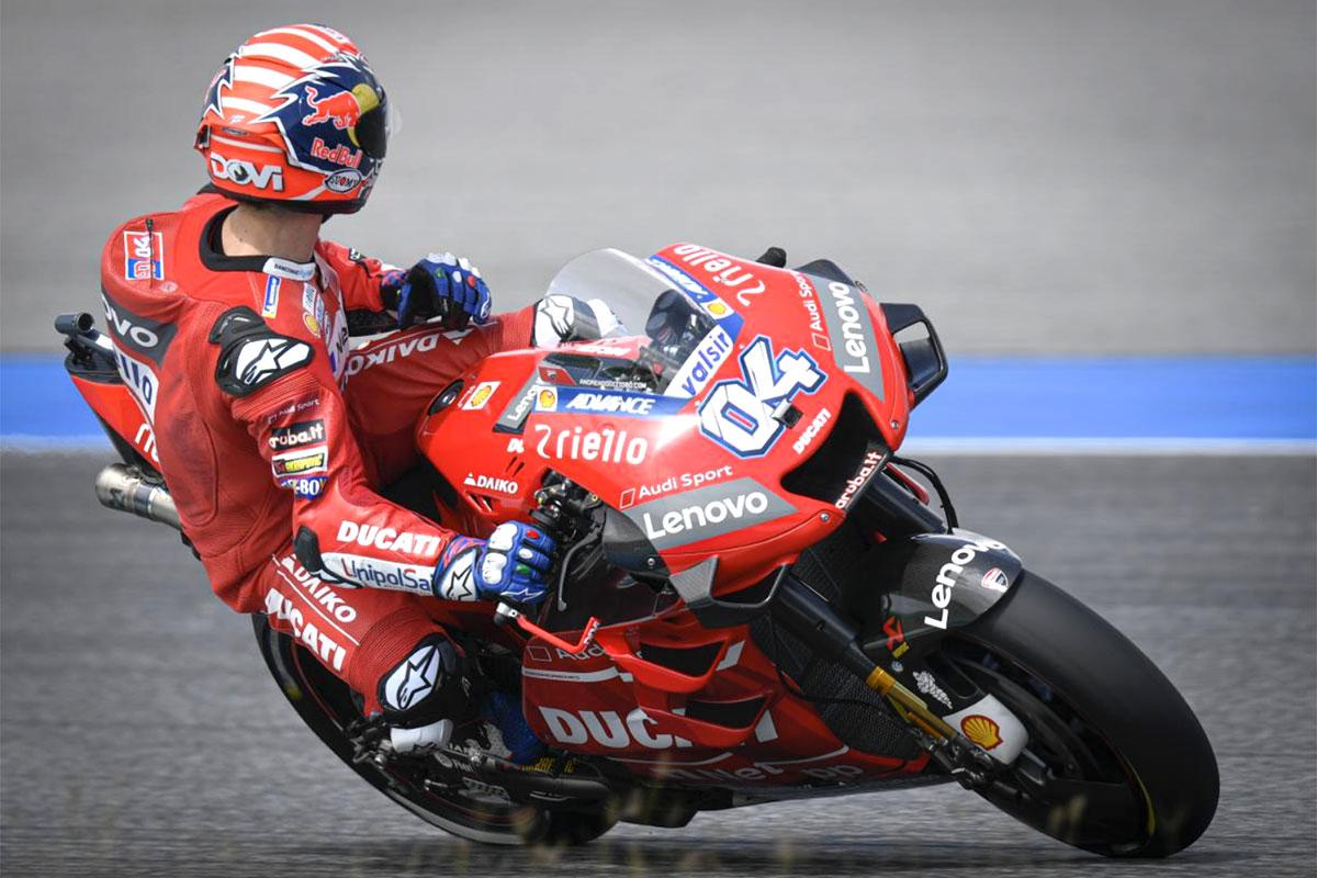 Andrea Dovizioso è quarto con la Ducati. Ora può solamente difendere l'argento in Campionato