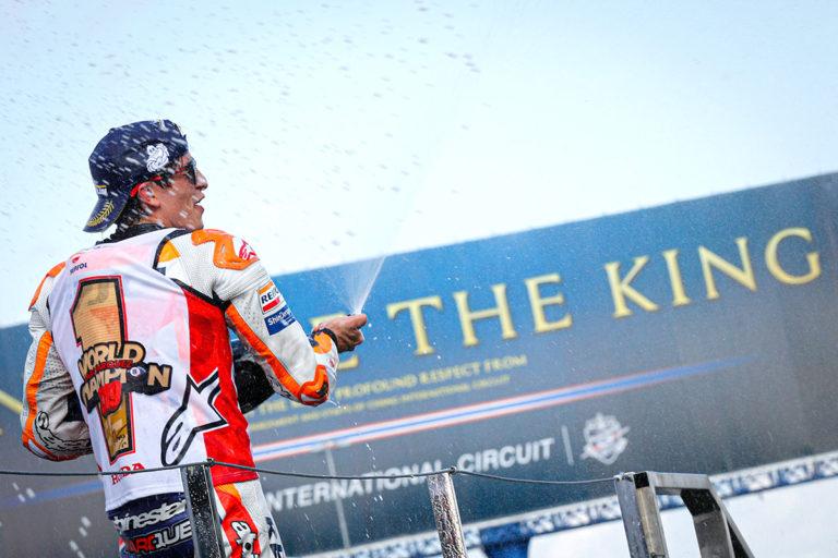 Marc Marquez al Gran Premio della Thailandia di MotoGP conquista il suo ottavo titolo mondiale, quarto consecutivo