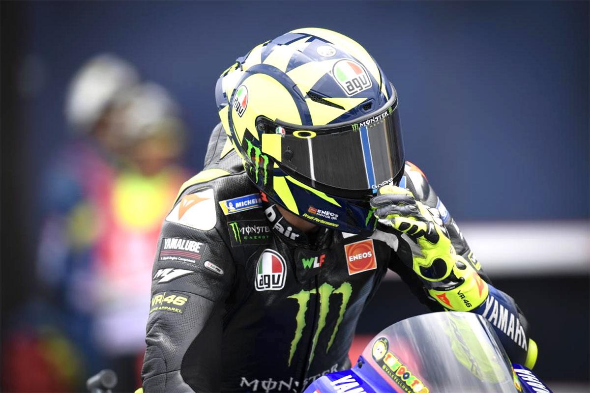 Ottava piazza per Valentino Rossi sempre lontano dai giochi per le prime posizioni
