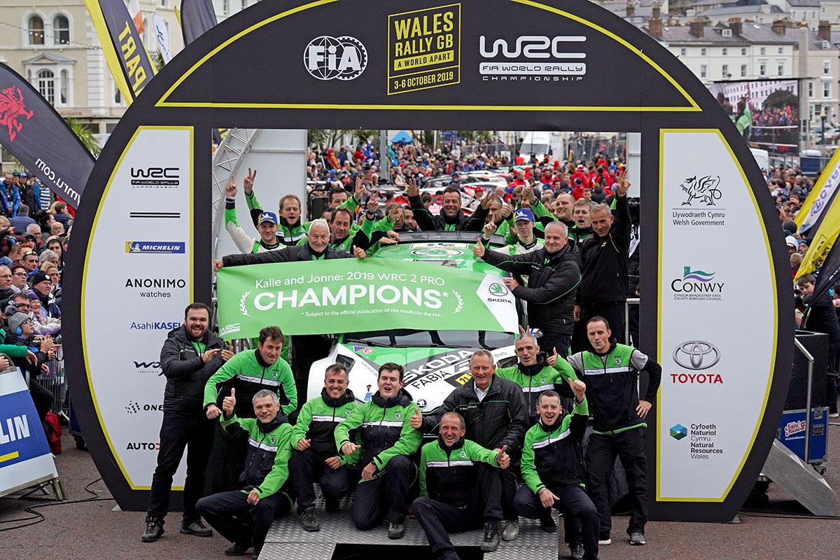Festa in casa Skoda per la vittoria di Kalle Rovanpera in WRC 2 Pro con la Fabia R5 Evo