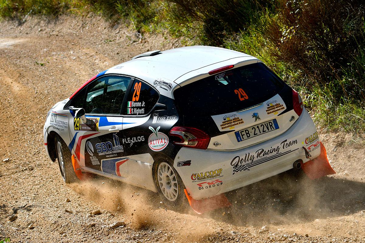 Ottima prova di Barone jr su Peugeot 208