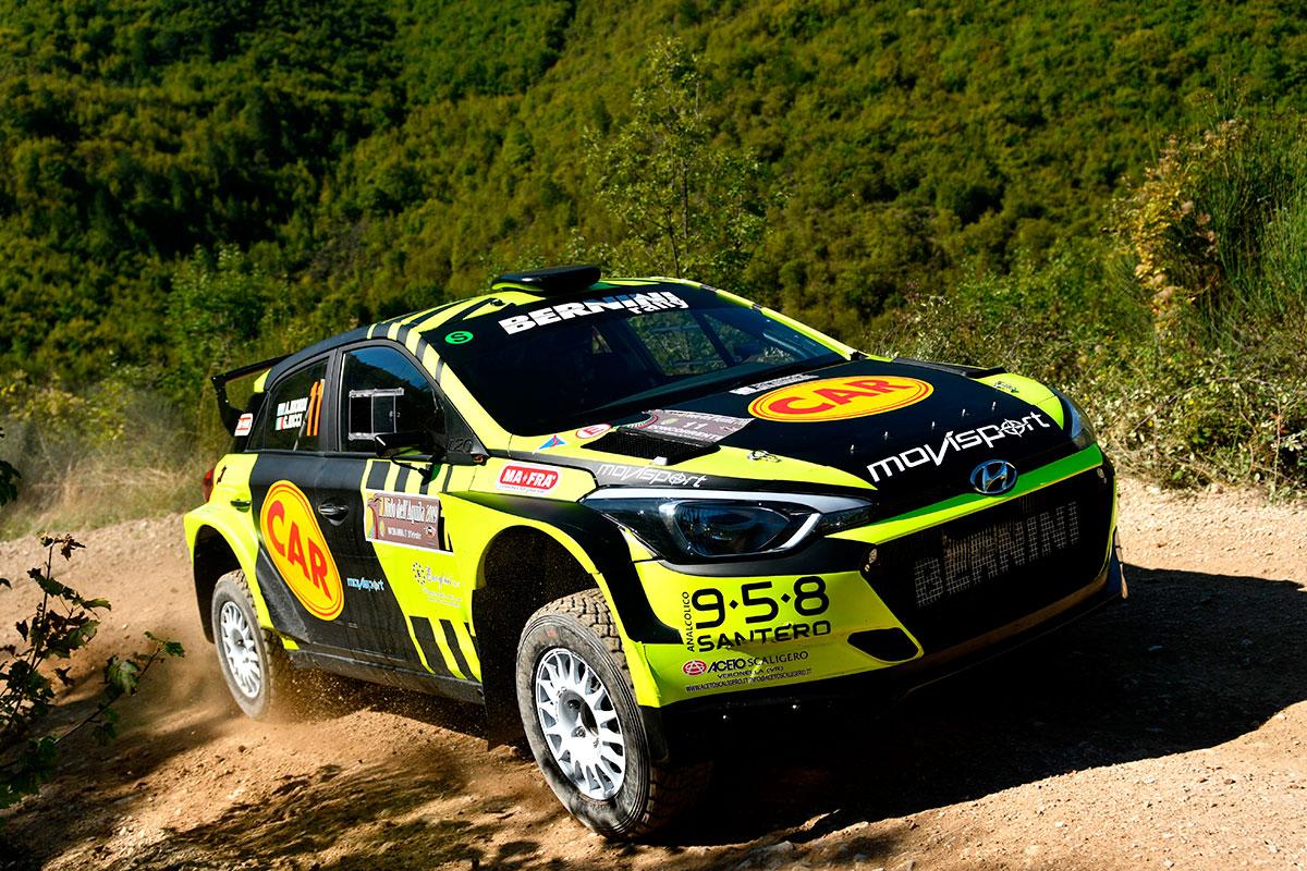 Settimo chiude Luigi Ricci con la Hyundai i20 R5 in livrea nero-giallo fluo