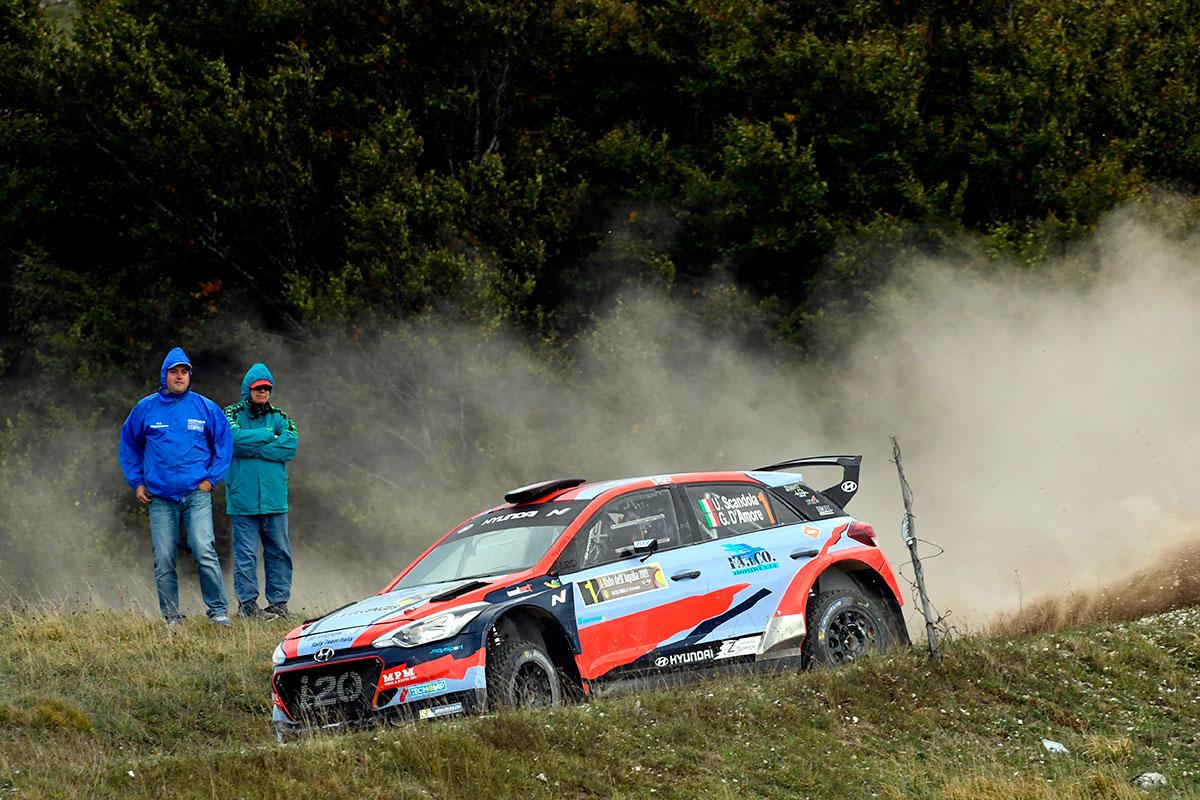 Umberto Scandola e Guido D'Amore chiudono terzi con la Hyundai i20 R5