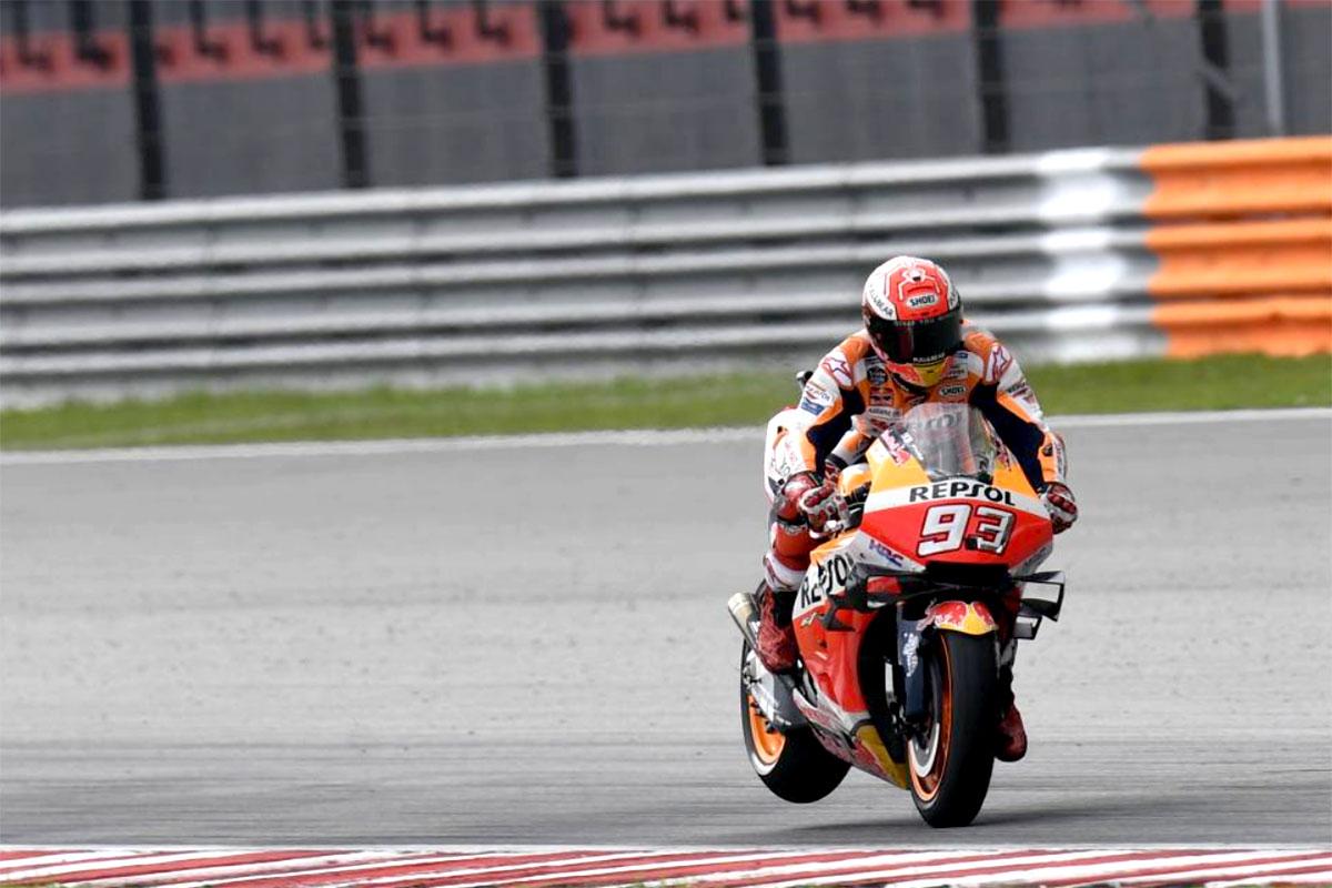 Marc Marquez deve accontentarsi della piazza d'onore al GP di Malesia