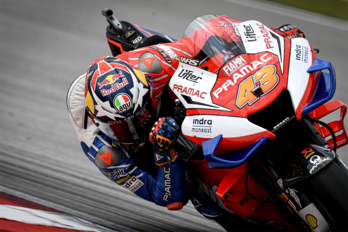 L'australiano Jack Miller è ottavo con la Ducati targata Pramac Racing