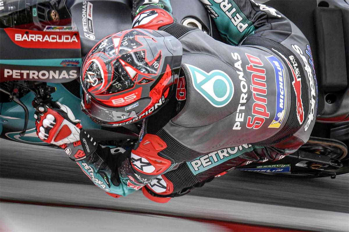 Volano alto anche le Yamaha Petronas SRT con Fabio Quartararo settimo al traguardo