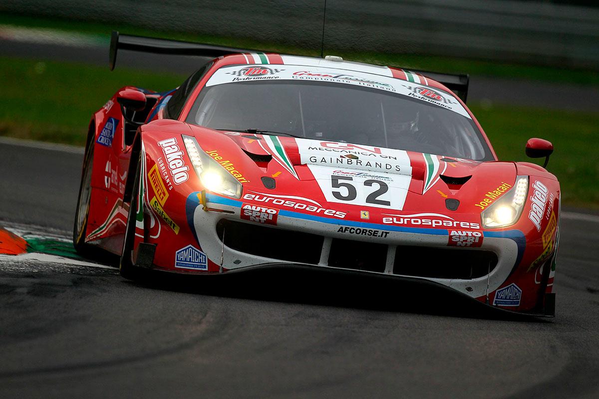 Sam Hudspeth e Antonio Fuoco sulla Ferrari 488 Evo GT3 di AF Corse sono i migliori nella classifica finale della GT3 Pro-AM
