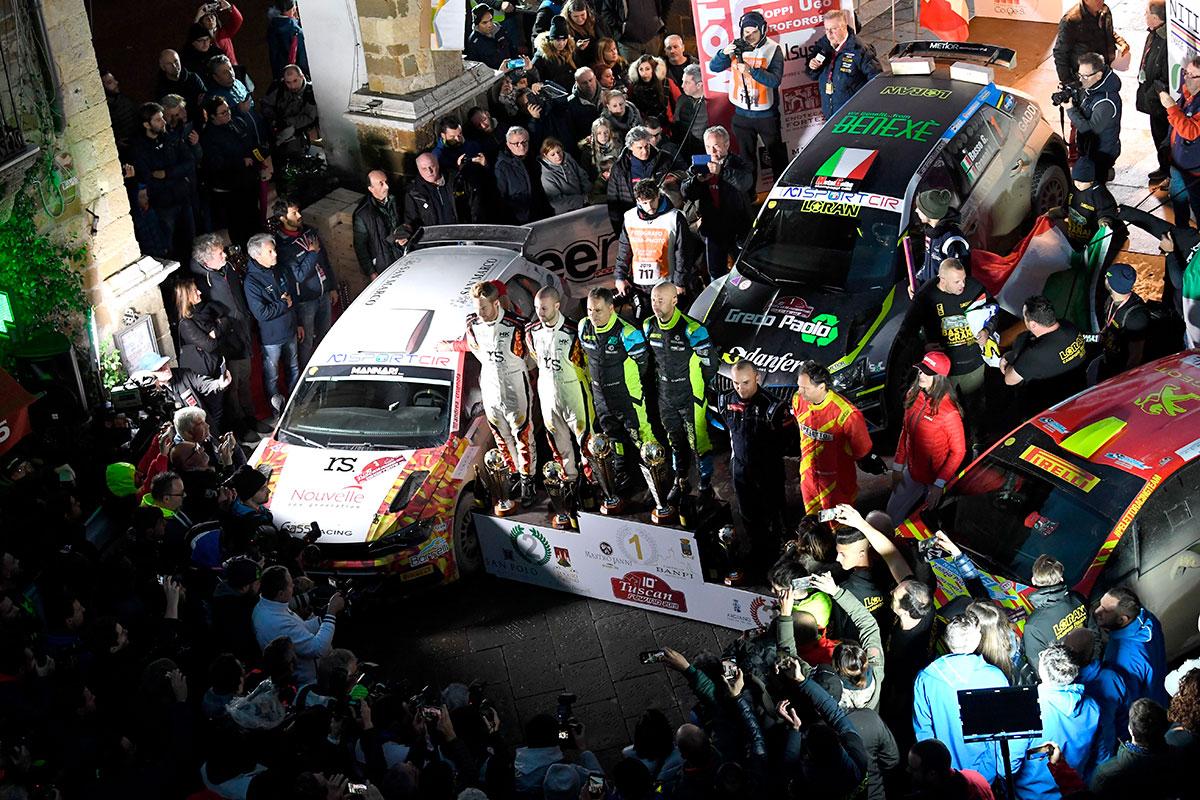 Il podio finale del Tuscan Rewind, ultima tappa del CIR 2019