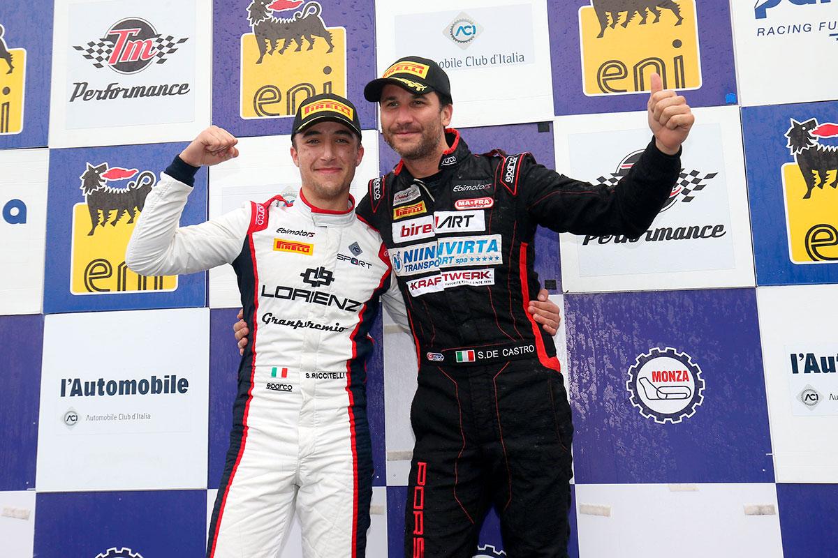 Simone Riccitelli e Sabino De Castro con la Porsche Cayman di Ebimotors conquistano il titolo GT4