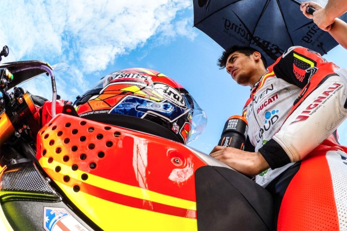 Buona la prima gara anche per Michael Ruben Rinaldi con la Ducati Panigale di Barni