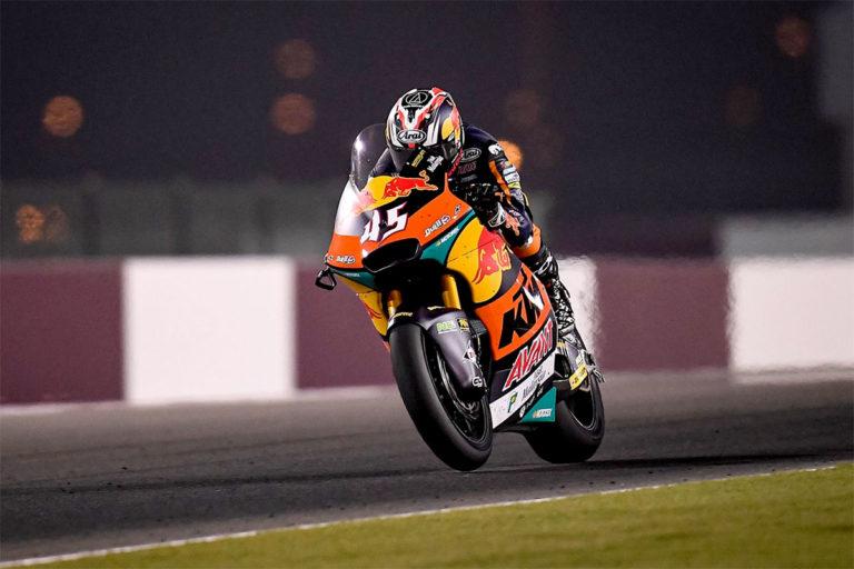 Tetsuta Nagashima con la Kalex di Red Bull Ajo si aggiudica la prima tappa della Moto2 sul circuito di Losail in Qatar